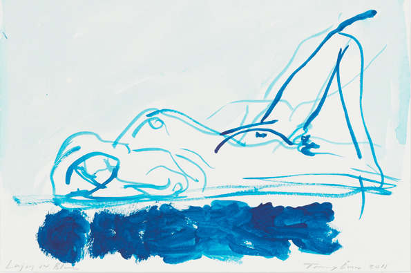 Laying in Blue - Tracey Emin 2011