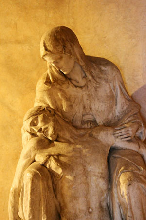 Christ in the Arms of Mary.